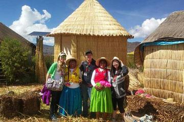 settlers of the island uros- Puno