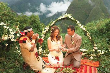 Matrimonio inca en machu picchu